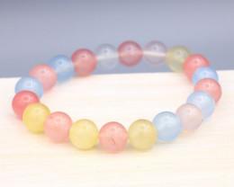 10.0mm 135.50Ct Natural Fancy Tourmaline Beads Bracelet