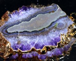104-Cts URUGUAY AMETHYST STALACTITE PENDANT  SJ-1287 simplyjewelery