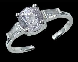 1.90ct.Stunning Natural Kunzite Gemstone Silver925Ring.DKZ532