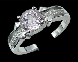 1.64ct.Stunning Natural Kunzite Gemstone Silver925Ring.DKZ536