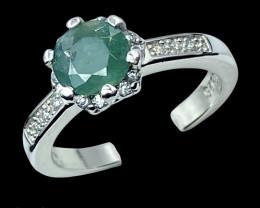 0.87ct.Prettiest Natural Grandidierite Gemstone Silver925Ring.DGD537