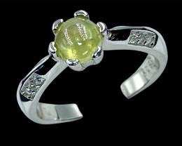 1.09ct.Enticing Natural Sphene Gemstone Silver925Ring.DSN548