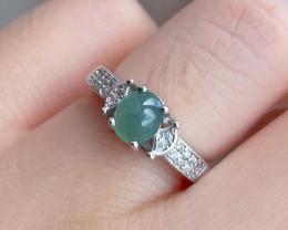 Natural Jade Standard 925 Silver Ring SR3