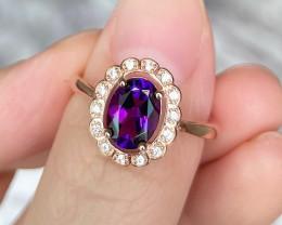 Amethyst Ring Standard 925 Silver Ring SR5