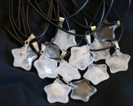 Wholesale 12 pieces Crystal Pentagram Pendants code CH 1204