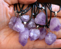 Wholesale 10 pieces Amethyst Termimated point  Pendants code CH 1215