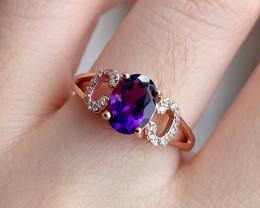 Amethyst Ring Standard 925 Silver Ring SR6
