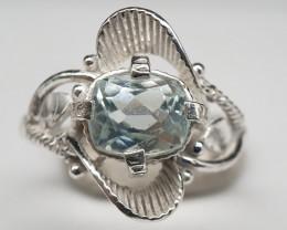 Natural Aquamarine 15.00 Carats 925 Silver