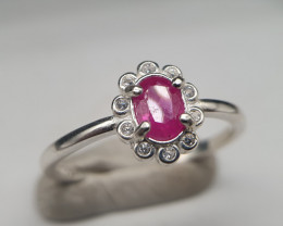 Natural Red Ruby 10.40 Carats 925 Silver