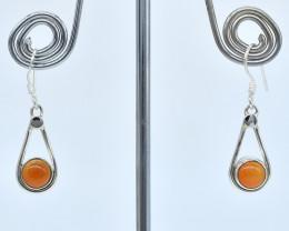 CARNELIAN EARRINGS 925 STERLING SILVER NATURAL GEMSTONE AE1280