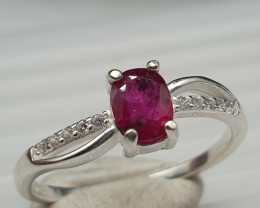 NATURAL RUBY RING RED RUBY 10.40 CARATS 925 SILVER