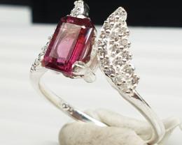 Natural Red Garnet Ring   925 Silver   14.50 Carats Natural Red Garnet Ring