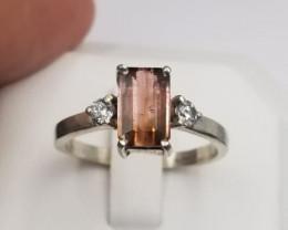 Beautiful Tourmaline Gems Ring in Sliver