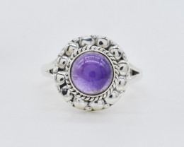 AMTHYST  RING 925 STERLING SILVER NATURAL GEMSTONE AR1754