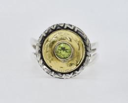 PERIDOT RING 925 STERLING SILVER NATURAL GEMSTONE AR1756