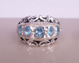 Natural Beautiful Topaz Gems Ring
