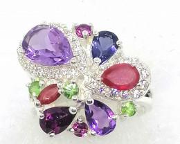 Multi-gemstone Ring 2.90tcw.