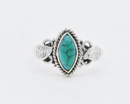 TURQUOISE RING 925 STERLING SILVER NATURAL GEMSTONE AR1777