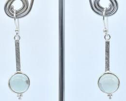 AQUAMARINE EARRINGS 925 STERLING SILVER NATURAL GEMSTONE AE1299
