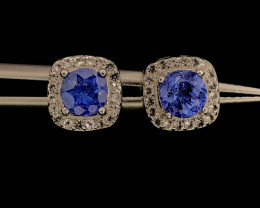 No Reserve~Bedazzling~Tanzanite~Earrings~12.50ct
