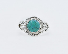 TURQUOISE RING 925 STERLING SILVER NATURAL GEMSTONE AR1792