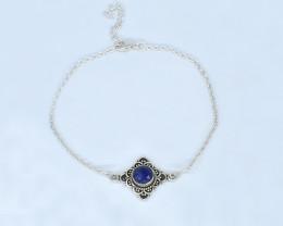 BLUE SAPPHIRE BRACELET NATURAL GEM 925 STERLING SILVER AB250