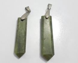 83.10 Carats Natural Grasolar Steel Pendant