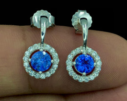 No Reserve~Bedazzling~Tanzanite~Earrings~13ct