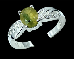 1.36ct.Exquisite Yellow Sapphire Gemstone Silver925Ring.DYS578