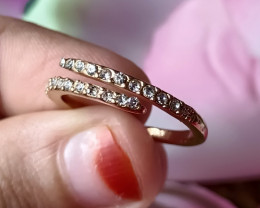 Fancy Full CZ  Gold Plated Handmade Ring