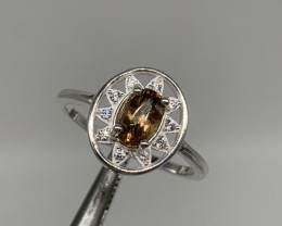 Natural 9.00 Carats rare Axinite 925 Silver Ring