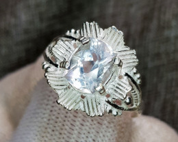 Natural Aquamarine 13.40 Carats Hand Made Ring