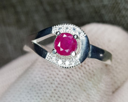 Natural Beautiful Ruby 13.20 Carats 925 Silver Ring