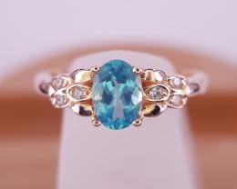 Beautiful Natural London Topaz Gems Ring