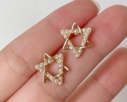 Natural Pearl Star Earring E03