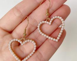 Natural Pearl Love Heart Earring E04