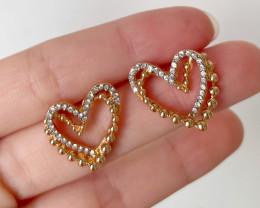 Peach Heart Earring E05