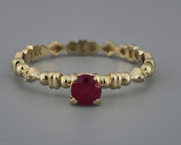 Ring with ruby and diamonds.