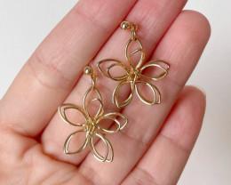 Copper Wire Flower Earring E07