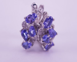 Beautiful Natural Tanzanite Gems Ring