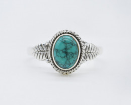 TURQUOISE RING 925 STERLING SILVER NATURAL GEMSTONE AR1807