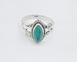 TURQUOISE RING 925 STERLING SILVER NATURAL GEMSTONE AR1811