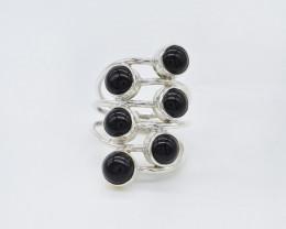 BLACK ONYX RING 925 STERLING SILVER NATURAL GEMSTONE AR1815