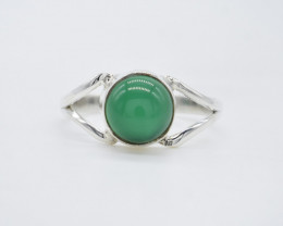 GREEN ONYX RING 925 STERLING SILVER NATURAL GEMSTONE AR1819