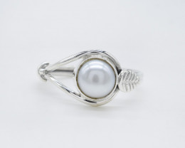 PEARL RING 925 STERLING SILVER NATURAL GEMSTONE AR1820