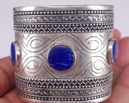 Beautiful Natural Lapis Lazuli Cuff Bracelet