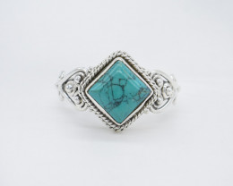 TURQUOISE RING 925 STERLING SILVER NATURAL GEMSTONE AR1821