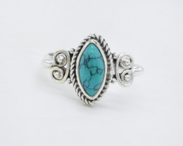 TURQOISE RING 925 STERLING SILVER NATURAL GEMSTONE AR1823