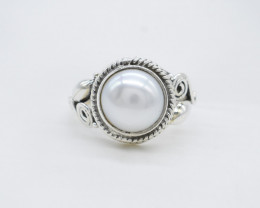 PEARL RING 925 STERLING SILVER NATURAL GEMSTONE AR1824
