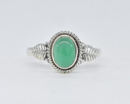 GREEN ONYX RING 925 STERLING SILVER NATURAL GEMSTONE AR1839